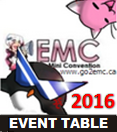 Emiko's Mini Convention; 2016 -:Event Table:-