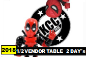 Kitchener Comic Con 2018 - 1/2 Vendor Table: TWO Days - Sat/Sun