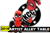 Kitchener Comic Con 2018 - Artist Alley Table - Sat/Sun